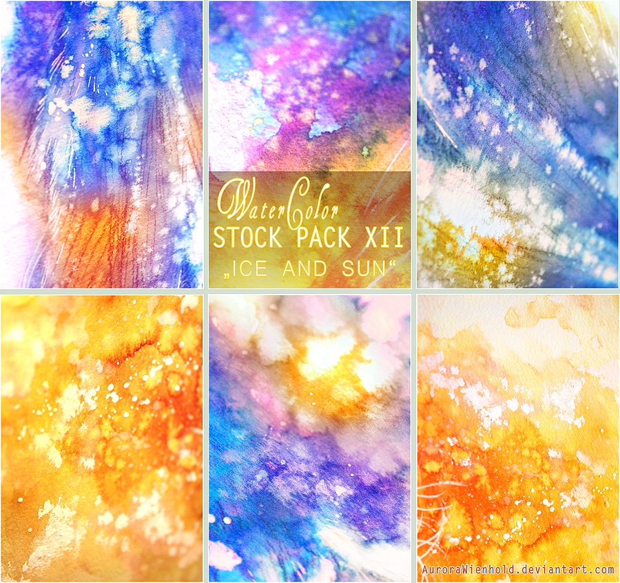ICE AND SUN - WATERCOLOR STOCK PACK XII by AuroraWienhold