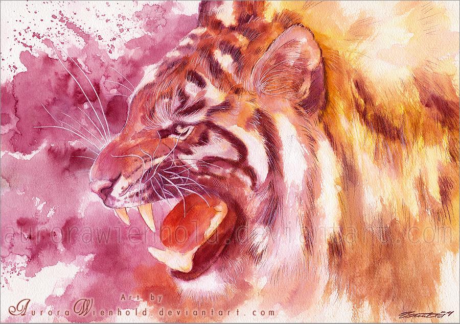 Tiger roar by AuroraWienhold