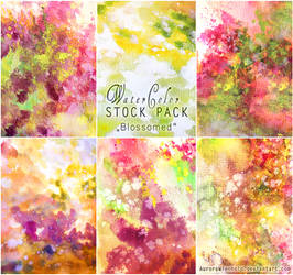 Blossomed - WATERCOLOR STOCK PACK by RoryonaRainbow