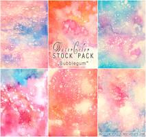 Bubblegum - WATERCOLOR STOCK PACK by RoryonaRainbow