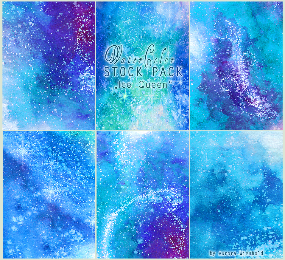 Ice Queen - WATERCOLOR STOCK PACK by RoryonaRainbow