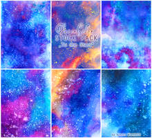 To the Stars - WATERCOLOR STOCK PACK by RoryonaRainbow