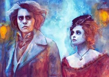On the Fleet Street - Watercolors by RoryonaRainbow