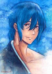 Masaki Takigawa - Tsurune Watercolor Fanart by RoryonaRainbow