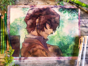 Do you know whose grave is this? Dazai Fanart