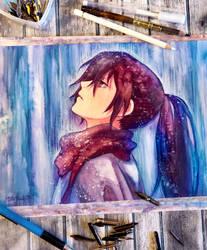 Listening to the rain - Hyakkimaru / Dororo Fanart