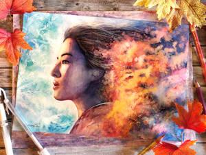 Always be brave - Mulan Fanart
