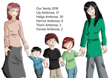 FWP: Ambrose family 2018 by RedStars7