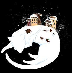 White cat' dreams by Tania-Perova