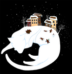 White cat' dreams