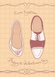 postcard st. Valentine's day - 2
