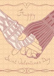postcard st. Valentine's day - 3