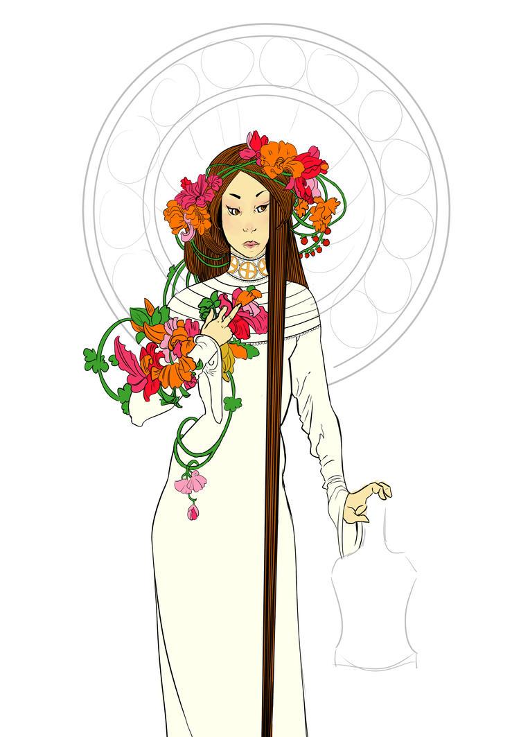 Inspiration Mucha by MadeIn-Aurelie