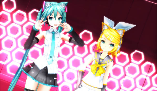 rin and miku :D