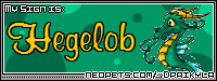 I'm a Hegelob! What are you? find out on Draikyla's page!