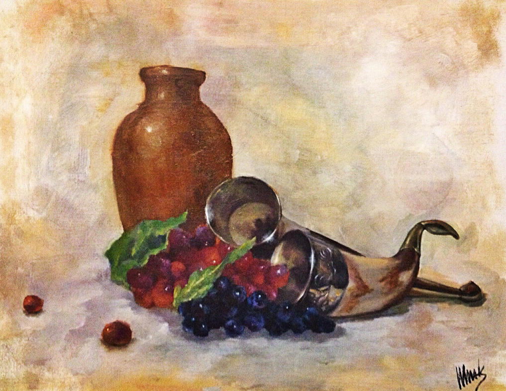 Horn and grapes by v-a-m-p-i-r-o