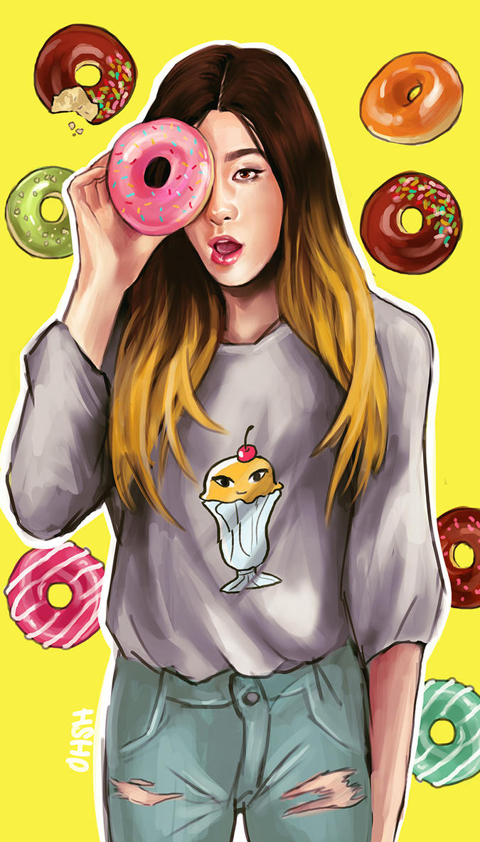 Seulgi + Donuts by ohsh