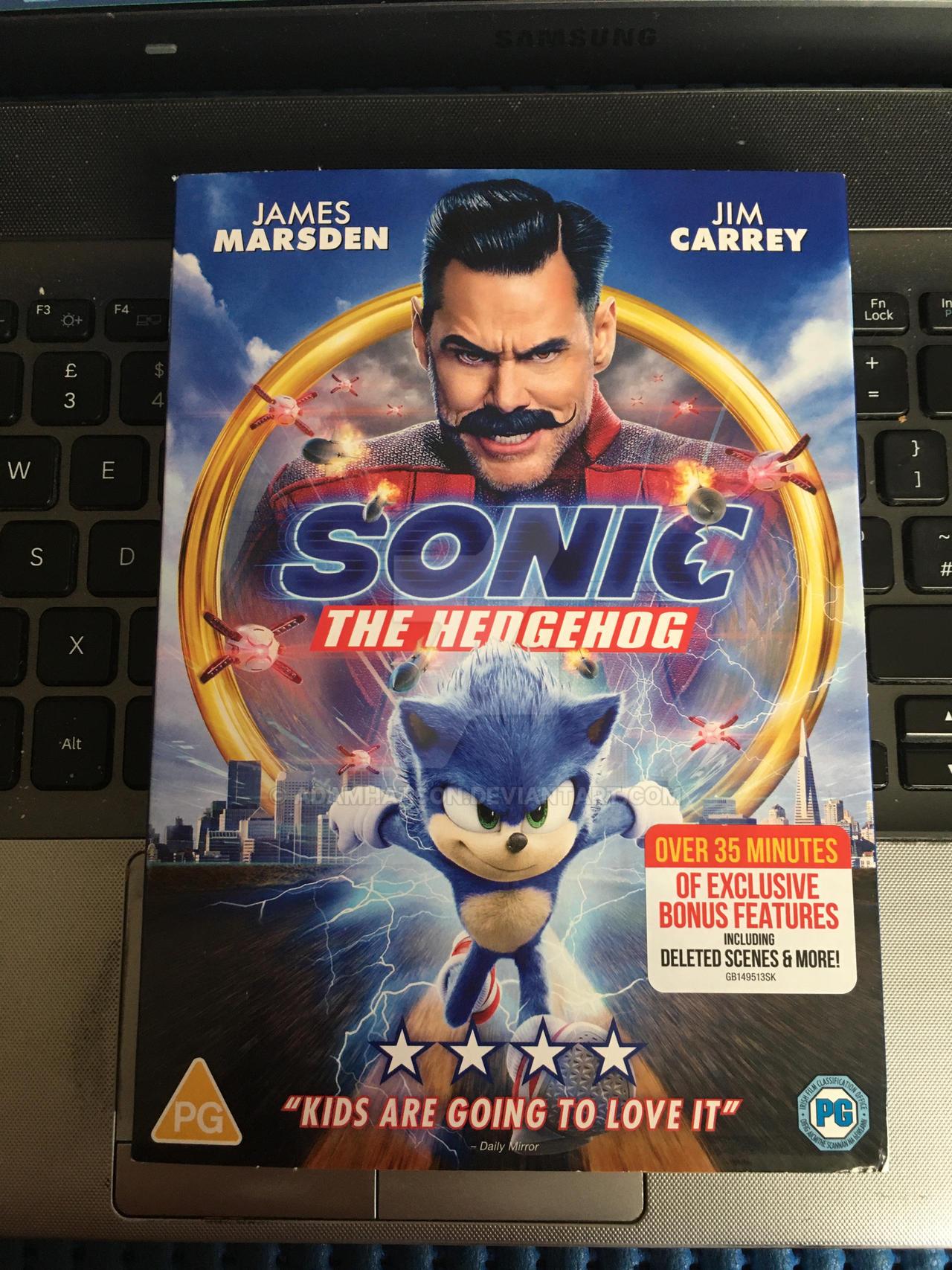 Sonic The Hedgehog Movie Dvd By Adamhatson On Deviantart