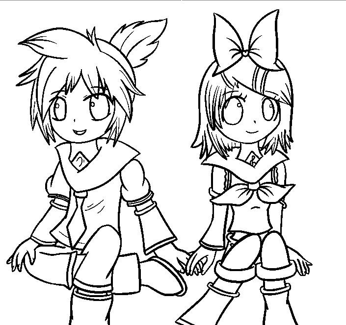 Drawing Rin amp Len Kagamine