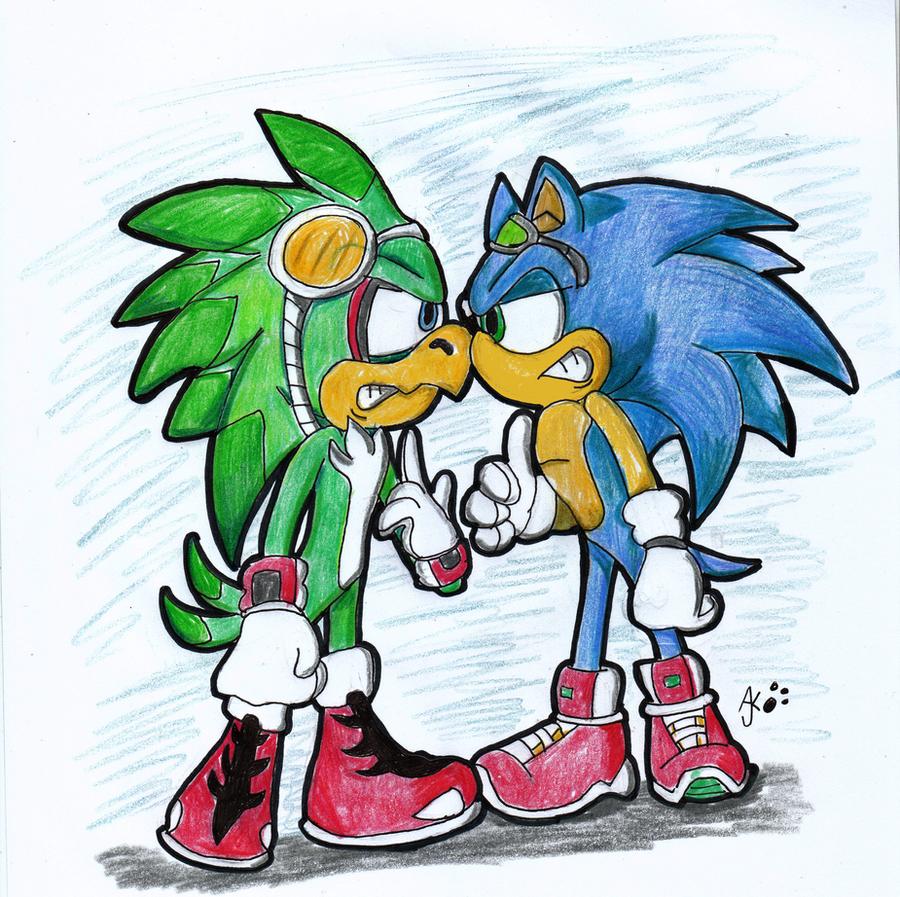 Jet Vs Sonic by RaeLogan on DeviantArt