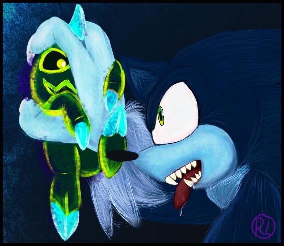 Werehog Sonic Pic Thing by RaeLogan
