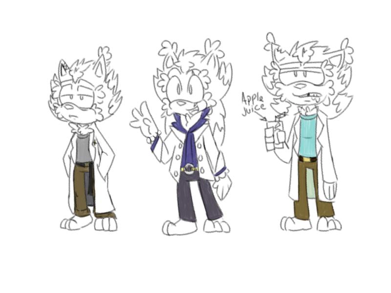 Tumblr Doodle - Scrawny, Scruffy Men of Science by RaeLogan