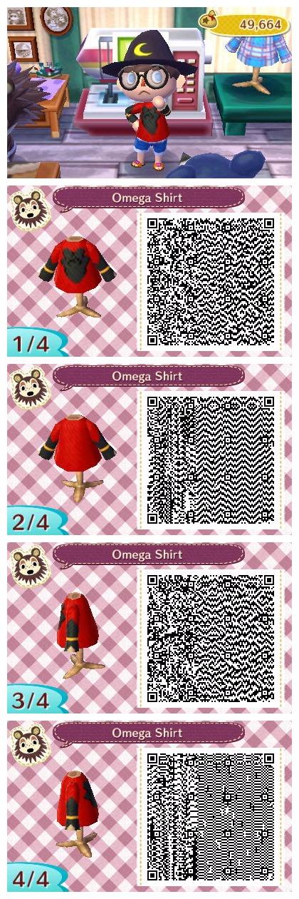 Omega Shirt - (ACNL QR Code) by RaeLogan