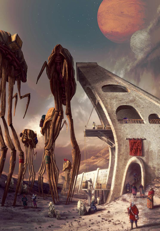 Ald'ruhn. Silt strider port by AlexeyRudikov