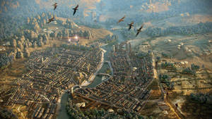 Balmora. Aerial view