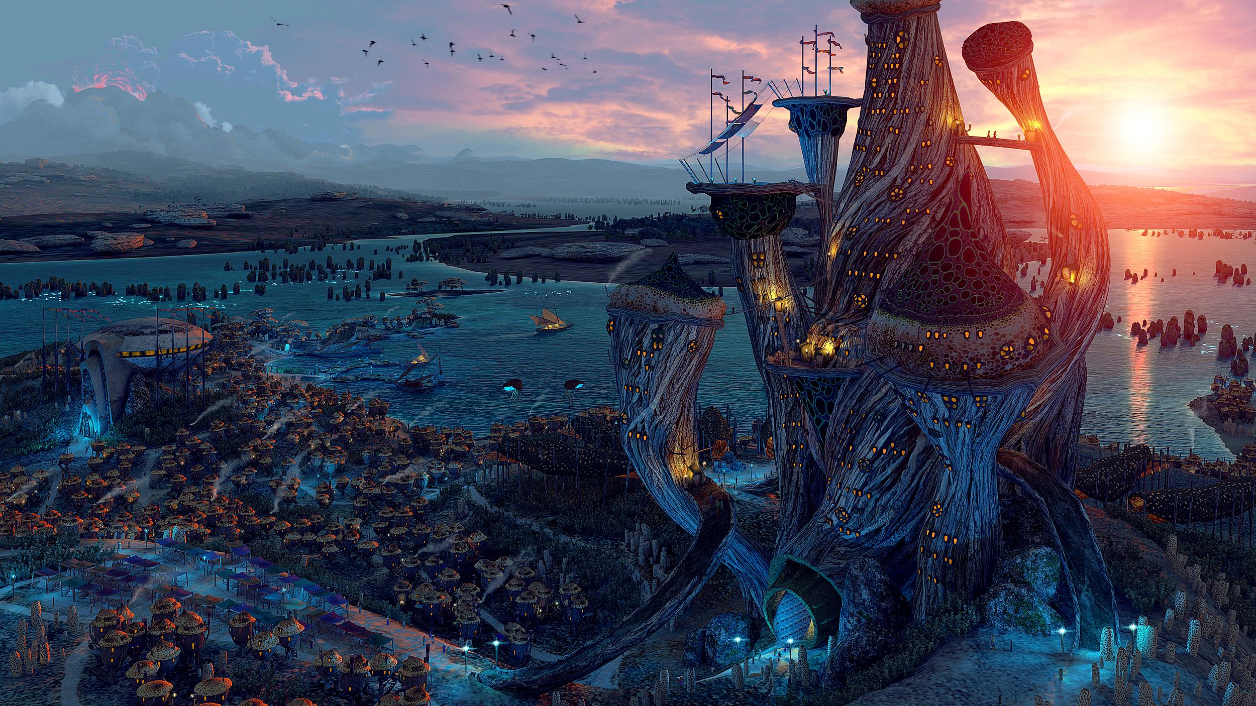 Telvanni tower by AlexeyRudikov
