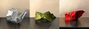 Folded paper study