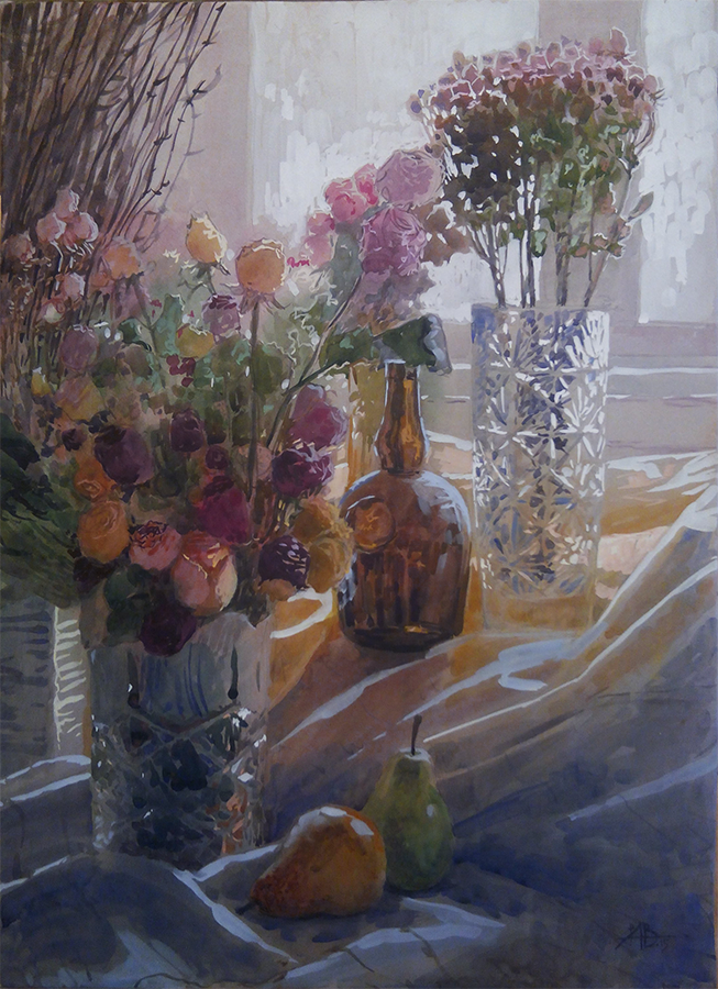 Still life with dry roses. by Lelek1980