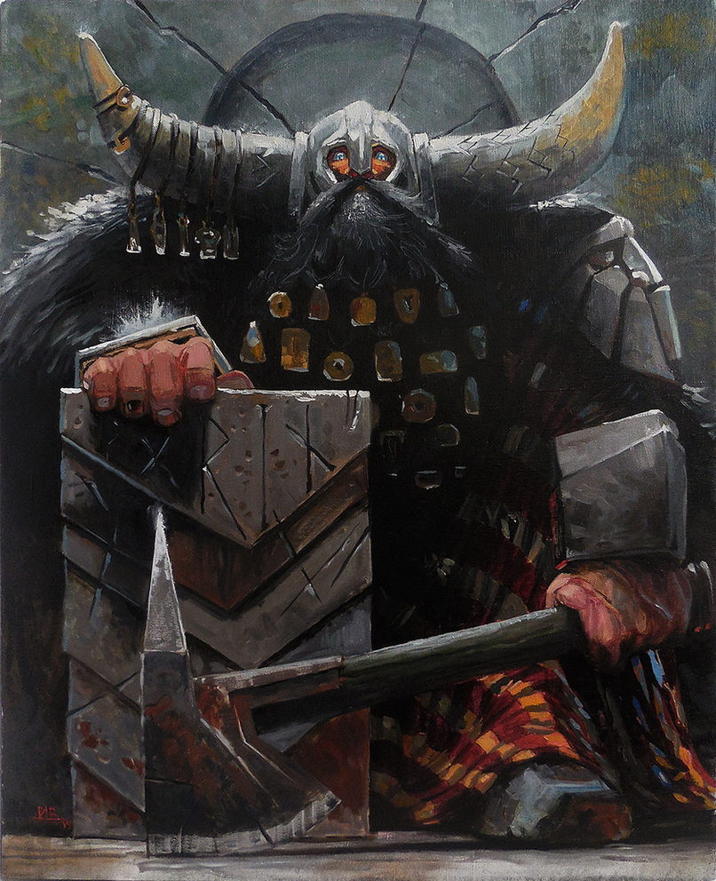 A noble dwarf (oil copy) by Lelek1980