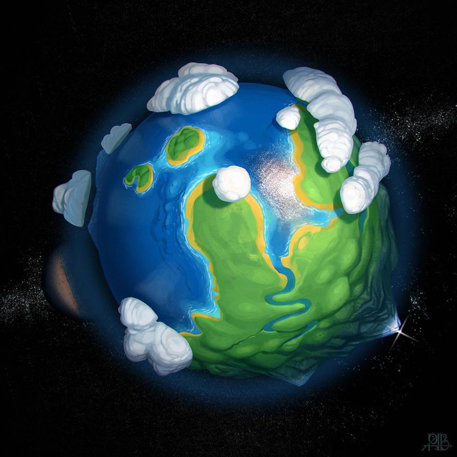 Earth-like planet by Lelek1980