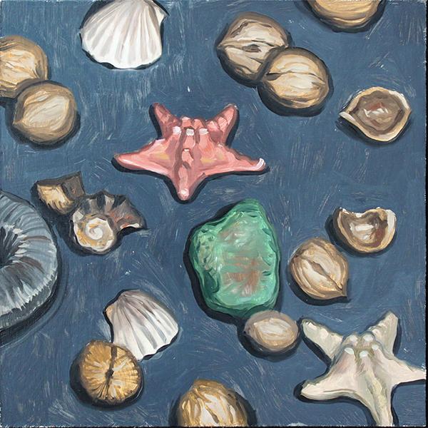 Background. Sea and walnuts by AlexeyRudikov