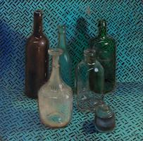 Still life with six glass vessels by AlexeyRudikov