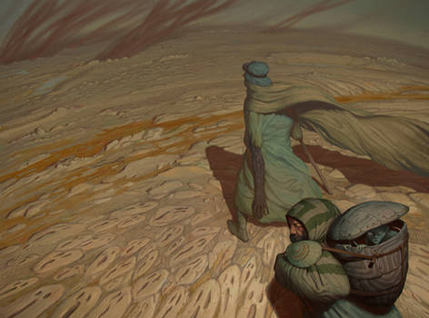 Through the ashen desert