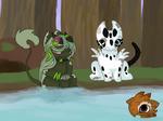 Kelpie tries to Make New Friends (Art Task)