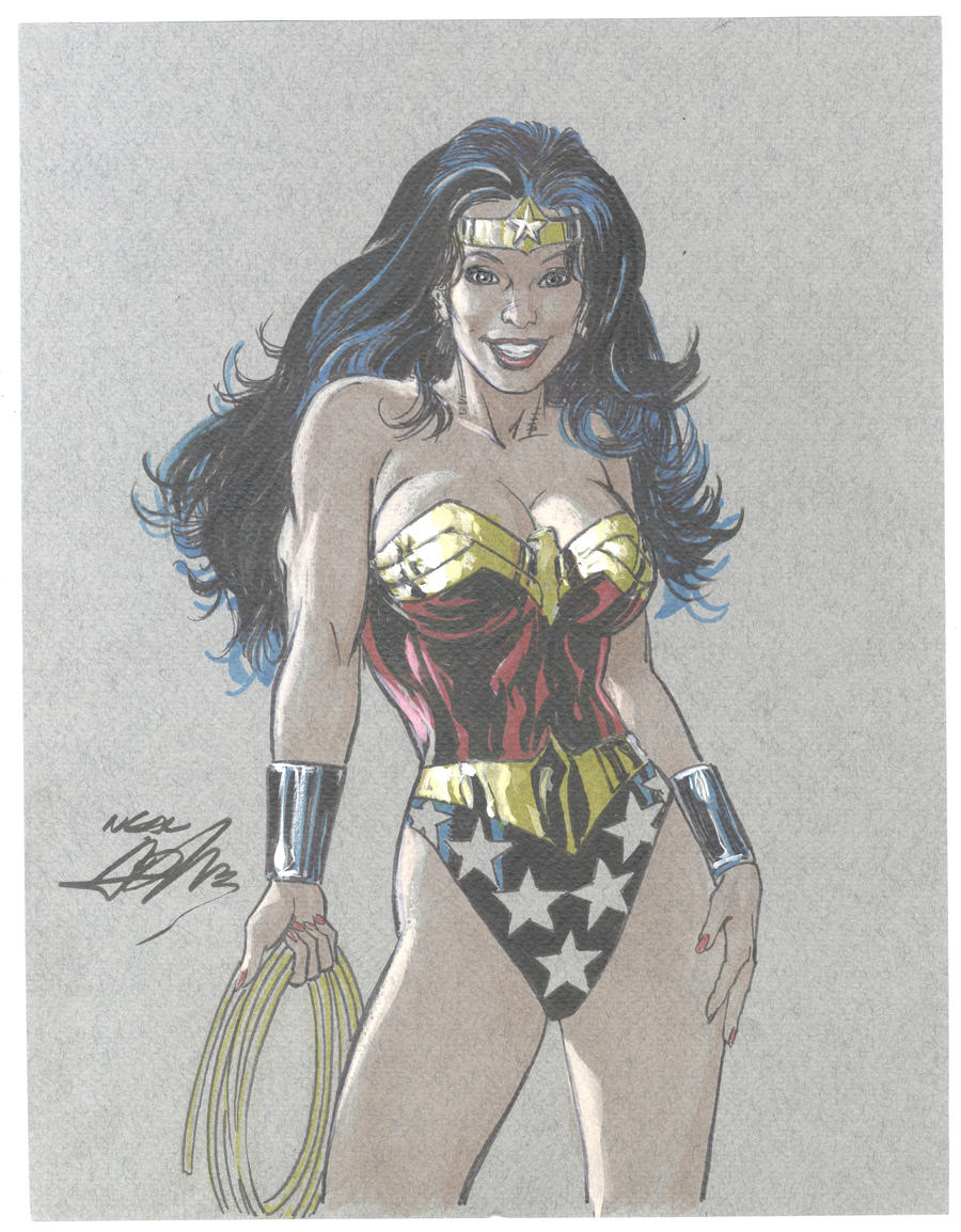 Wonder Woman Color Drawing by NealAdams