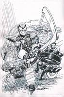 Spiderman and FF Convention drawing by NealAdams