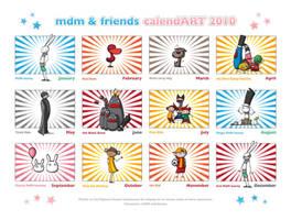 MdM calendART 2010 by MdMbunny