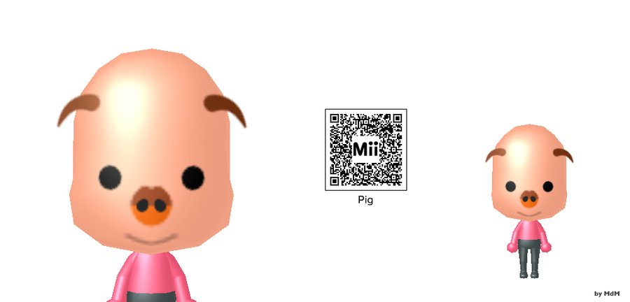 Anime Mii Characters 3ds : Mdm mii mr pig by mdmbunny on deviantart