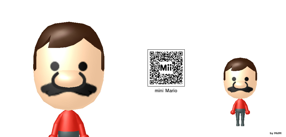 Daisy Mii Qr Code Tomodachi Life: MdM Mii: Mini Mario By MdMbunny On DeviantArt