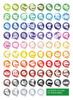 Ultimate Colors Of Smash Bros.