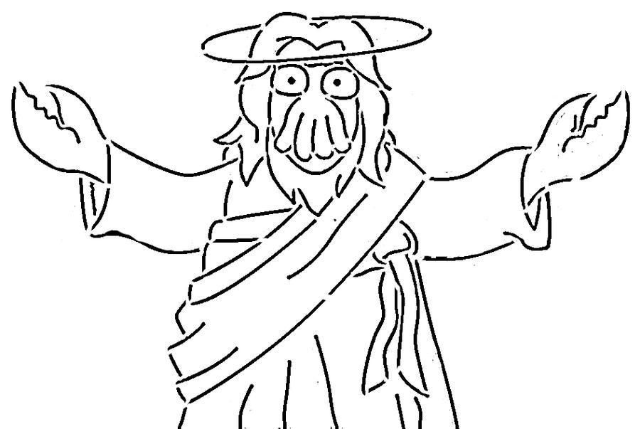 zoidberg jesus by glitchintexas on deviantart