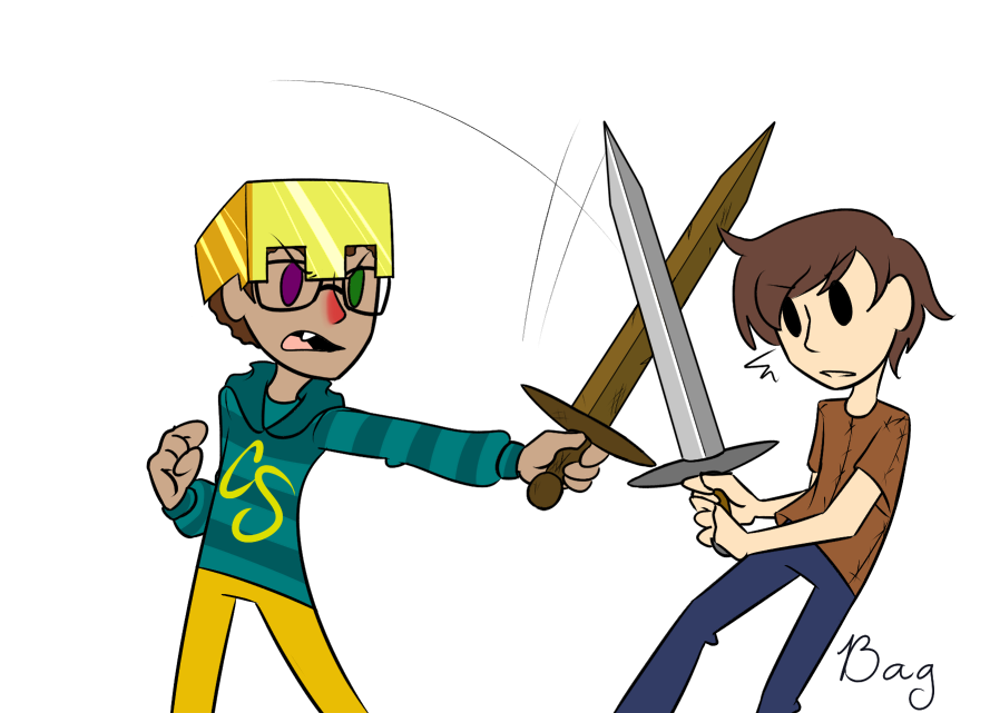 Minecraft hunger games by bagtoon