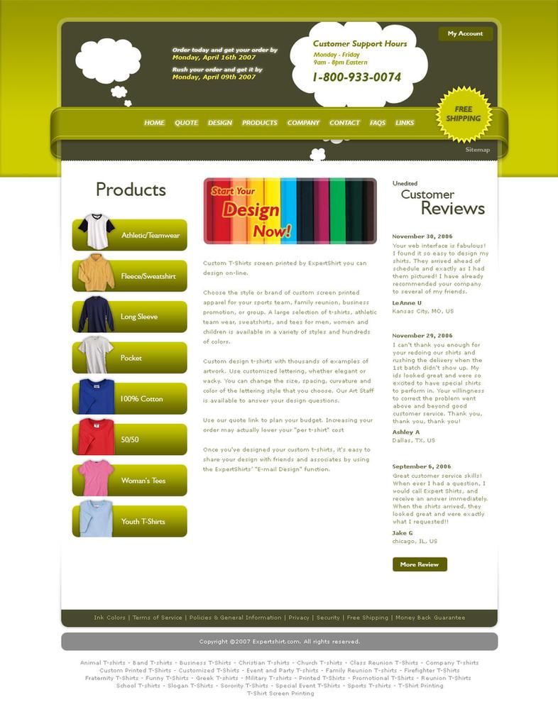 Galerry homepage design