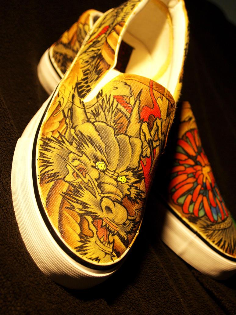 Japanese dragon tattoo shoes2 by damndirtyangel