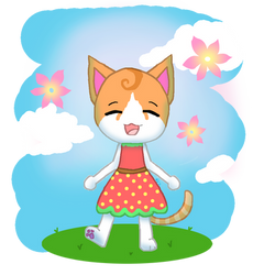 one of my cats as an animal crossing villager