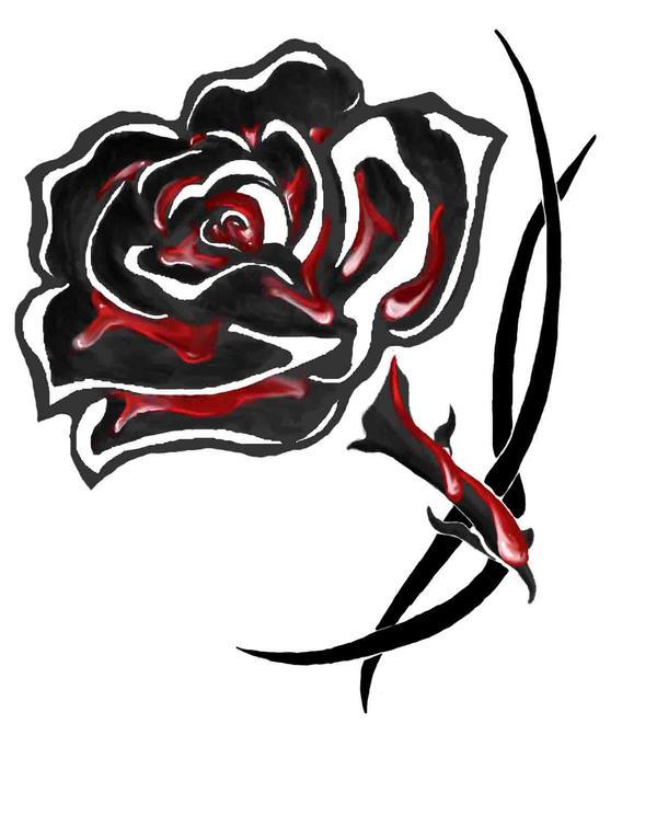 blood soaked black rose tattoo by greatthepat on deviantart. Black Bedroom Furniture Sets. Home Design Ideas